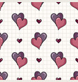 cute two hearts seamless pattern hand vector image vector image