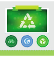 design template with ecology icons vector image vector image