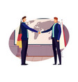diplomacy flat composition vector image