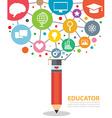 educator vector image