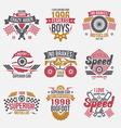 Emblems retro vintage race and super cars vector image