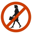 entrance and access is denied to woomen sign vector image