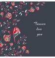 floral doodle postcard vector image vector image