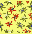 floridian floral print tropical pattern background vector image vector image