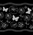 flowers and butterflies-flowers in bloom seamles vector image vector image
