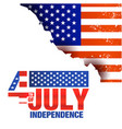 fourth of july independence united stated burn fla vector image