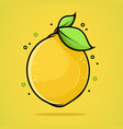 fresh lemon image vector image vector image