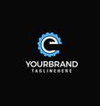 gear logo letter e design template vector image vector image