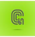 Graphic Line Font Logo Element Letter G vector image vector image