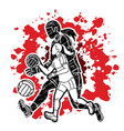 group gaelic football women players action vector image