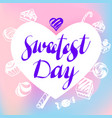 heart sweetest day logo simple style vector image vector image