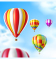 hot air balloons on blue sky background vector image vector image