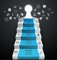 infographics up the ladder to success business vector image vector image