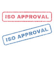 iso approval textile stamps vector image vector image