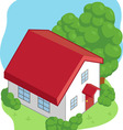 Isometric Cartoon House vector image vector image