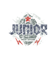 Junior rugby team emblem vector image vector image