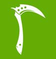 kama weapon icon green vector image vector image
