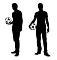 man with soccer ball vector image vector image