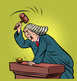mantle judge adjudicates in courtroom vector image