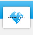 mountain ice logo design inspiration vector image