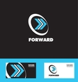 Moving forward arrow logo icon