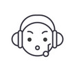 music listening emoji concept line editable vector image