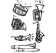 Musical Instrument Set vector image vector image