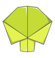 origami tree icon cartoon style vector image vector image