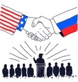 Partnership USA and Russia vector image vector image