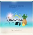 pineaple summer blurred sea bokeh beach background vector image