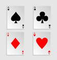 playing cards over white background vector image
