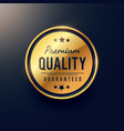 premium quality label and badge design in golden vector image vector image