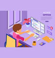 programmer working at home office vector image