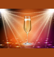 realistic champagne glasses on gold background vector image