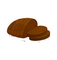 rye dark bread sliced loaf icon vector image vector image