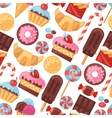 Seamless pattern colorful various candy sweets and vector image vector image