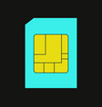 sim card icon vector image vector image