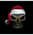 Skull in santa hat vector image vector image