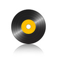 small gramophone record orange reflection vector image