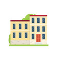 stone yellow city house building for many family vector image vector image