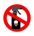 stop spraying poison red road sign is prohibited vector image vector image