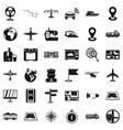 technology icons set simple style vector image vector image