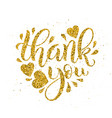 thank you lettering hand drawn calligraphy vector image vector image