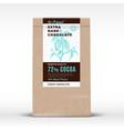 the original extra dark chocolate craft paper bag vector image vector image
