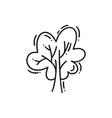 tree line icon stylized monoline vector image