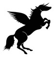 unicorn horse wings silhouette vector image vector image