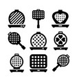 waffle-iron icons vector image vector image