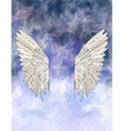 Watercolor background with wings vector image vector image