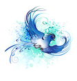 Watercolor Blue Bird vector image