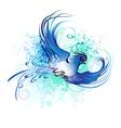 Watercolor Blue Bird vector image vector image